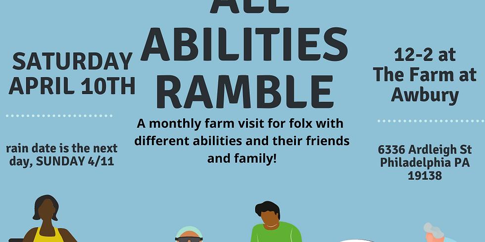 April All Abilities Ramble