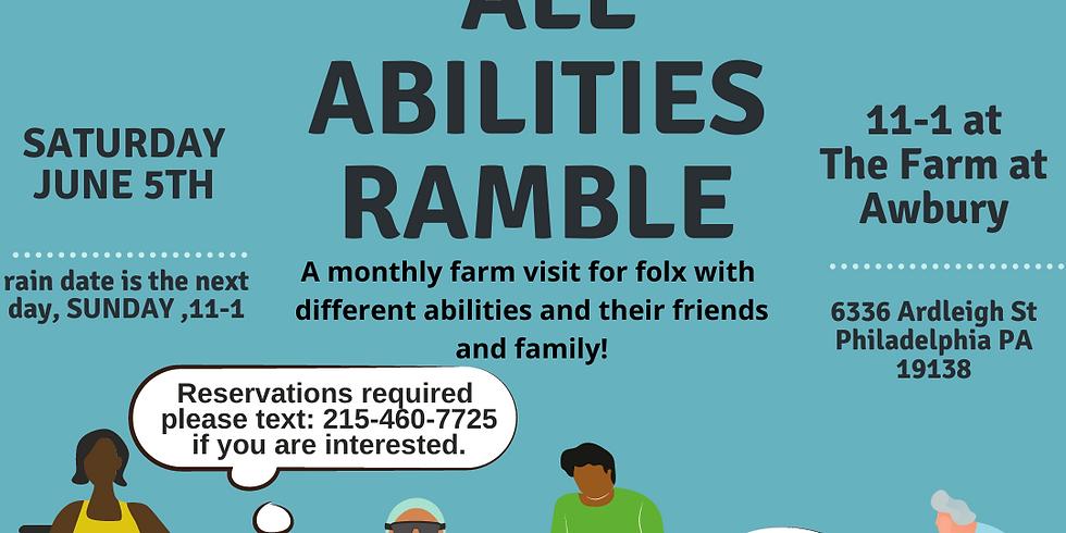 June All Abilities Ramble