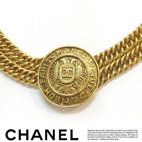 CHANEL / シャネル ヴィンテージ メダル 2連 チョーカー ネックレス