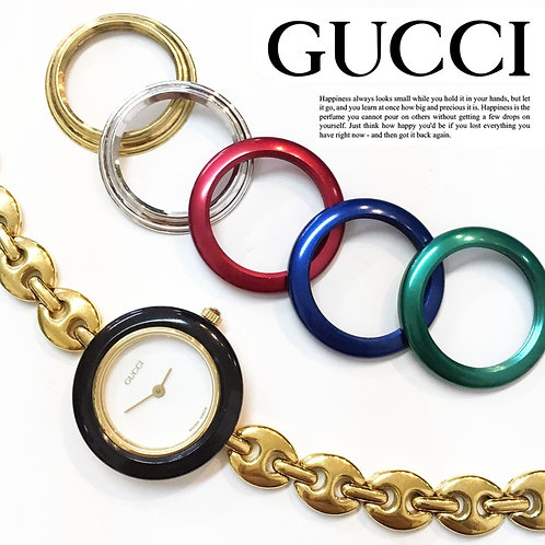 GUCCI/グッチ チェンジベゼルレディースウォッチ チェーン腕時計/クォーツ 6color