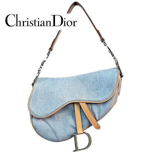 ChristianDior / クリスチャンディオール デニムサドルバッグ denim