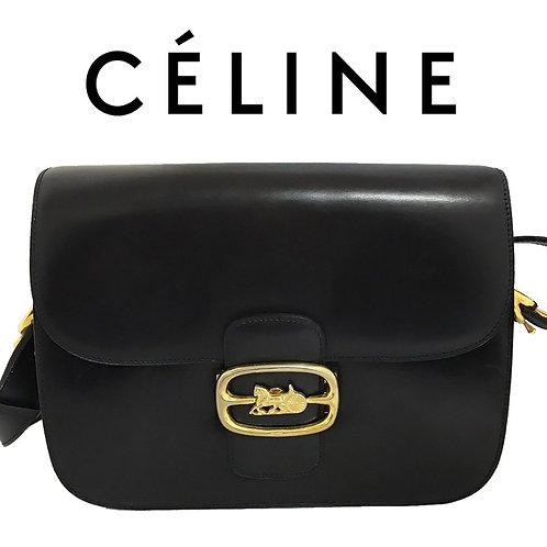 CELINE/セリーヌ ホースキャリッジ カーフレザー ショルダー 馬車金具