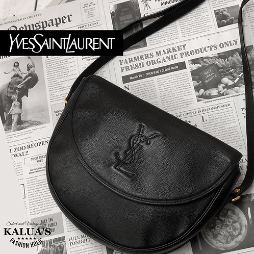 Yves Saint Laurent/イヴサンローラン BIGロゴラウンドショルダー / Lサイズ