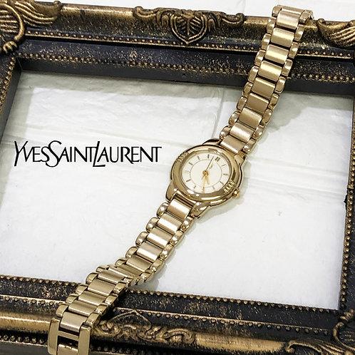Yves Saint Laurent / イヴサンローランラウンドベゼル腕時計