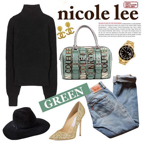 【LA SELECT】Nicole Lee U.S.A. / BIGプレート2wayボストン GR