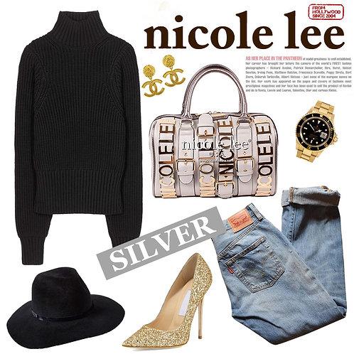 【LA SELECT】Nicole Lee U.S.A. / BIGプレート2wayボストン SV