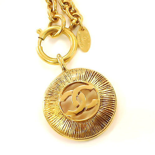 CHANEL ココマーク ネックレス CC logo round necklace