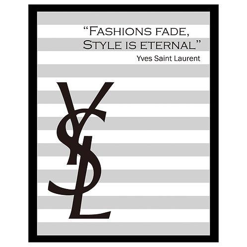 アメリカ直輸入!フレーム付き縦A4サイズアートポスター YSL#GR-1 (即納) GRAY