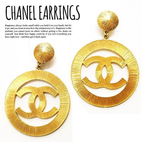 【超レア】CHANEL/ シャネル BIGサイズ サンバースト COCOマークイヤリング GOLD