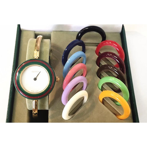 GUCCI/グッチ チェンジベゼルレディースウォッチ 腕時計/クォーツ 12color