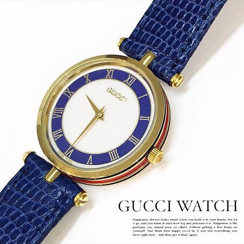 GUCCI/グッチ シェリーライン腕時計 メンズ ブルー QZ