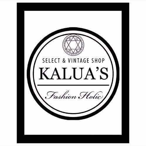 KALUA'Sロゴデザイン!フレーム付き縦B4サイズアートポスター KALUAS-2 (即納)