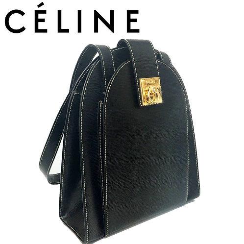 CELINE/セリーヌ ガンチーニ ハンドバッグ BLACK