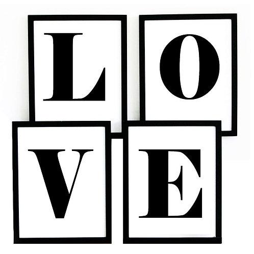 アメリカ直輸入!A4サイズアートポスター4枚SET A#LOVE-4 (即納)