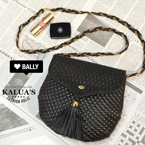 BALLY/バリーフリンジチェーンショルダーバッグ