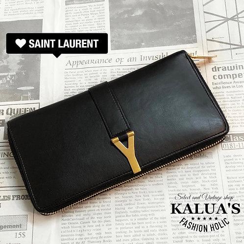 Saint Laurent/サンローラン Y金具レザー長財布