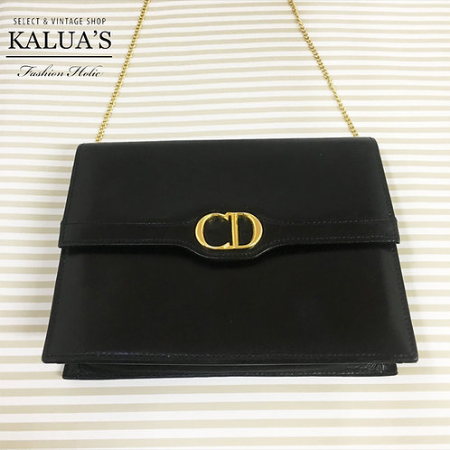 Christian Dior / クリスチャンディオール レザーCD金具チェーンバッグ