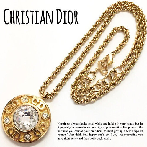 Christian Dior / クリスチャンディオール BIGビジュー ネックレス