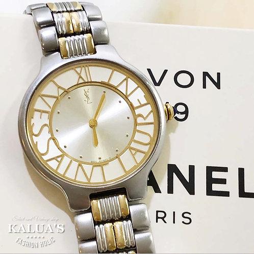Yves Saint Laurent / イヴサンローランサークルロゴ腕時計