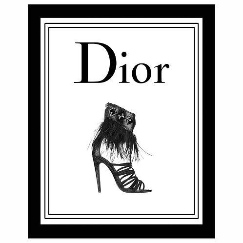 アメリカ直輸入!フレーム付き縦A3サイズアートポスター CD#BK-3 (即納) Dior