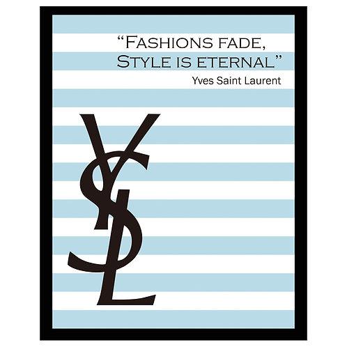 アメリカ直輸入!フレーム付き縦A4サイズアートポスター YSL#BL-1 (即納) BLUE