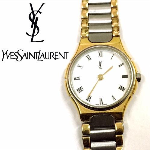 Yves Saint Laurent / イヴサンローラン ロゴサークル レディースウォッチ 時計