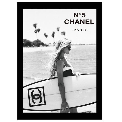フレーム付き縦A4サイズアートポスター CH#SURF-C1 (即納)