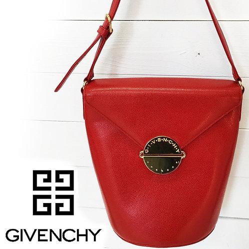 GIVENCHY / ジバンシー ヴィンテージ BIGゴールド金具 ショルダーバッグ