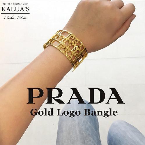 PRADA / プラダ ロゴバングル ゴールド
