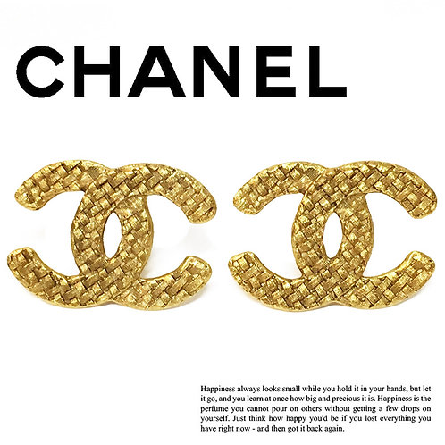 CHANEL / シャネル BIG ココマーク イヤリング GOLD (CH1009)