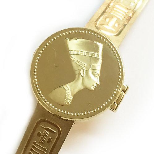 SEIKO / セイコー 黄金のネフェルティティ 1E20-0A20 / 22金仕上げ 限定品 (クォーツ)