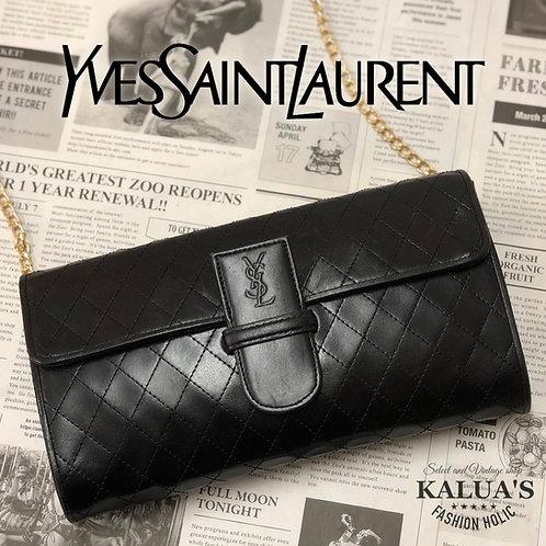Yves Saint Laurent/ イヴサンローラン BIGロゴカスタムチェーン2WAYキルティングバッグ