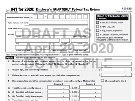 New Form 941 to be Released