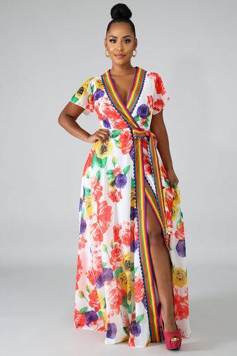 'Give Me Roses' Maxi Dress