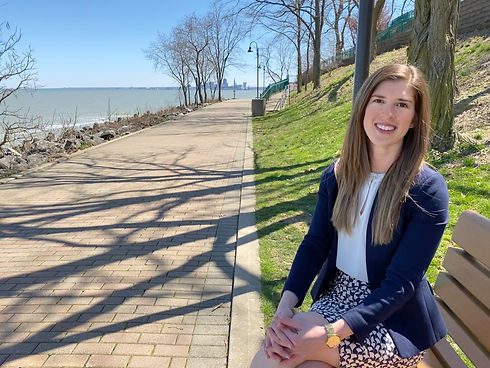 Susannah Selnick for Lakewood City Council sitting in Lakewood Park