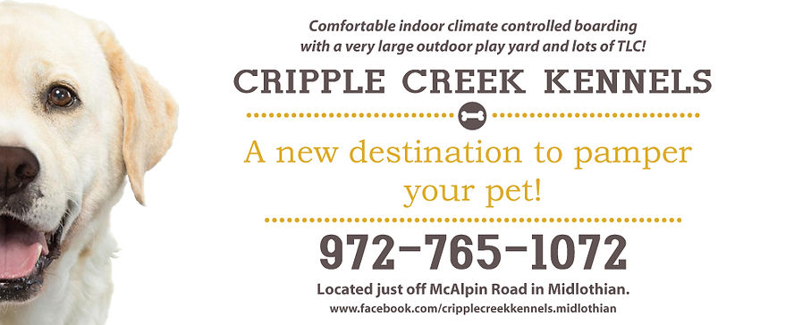Cripple Creek Kennels Business Card