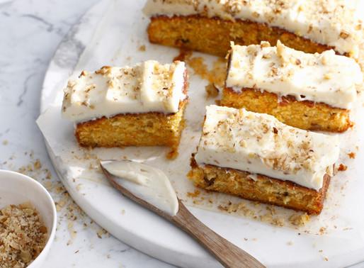 Gluten free carrot cake slices