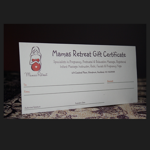 Mamas Retreat Gift Certificate