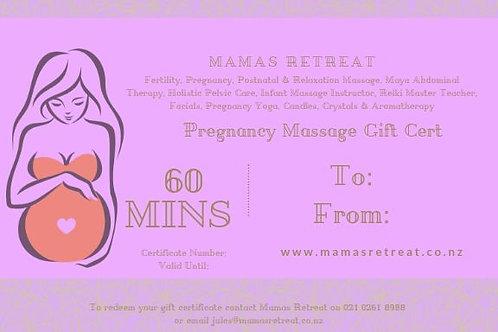 Pregnancy Massage (60 mins) - Gift Certificate