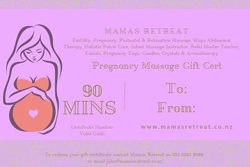 Pregnancy Massage (90 mins) - Gift Certificate