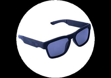 משקפי שמש MFI TRENDY עם רמקולים בלוטוס מובנה   שחור