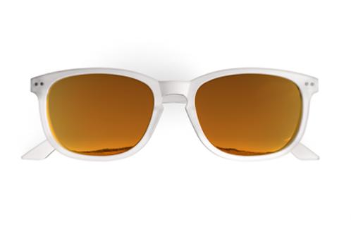 Blueberry Sunglasses XL, Crystal, Sunlight Red mirror
