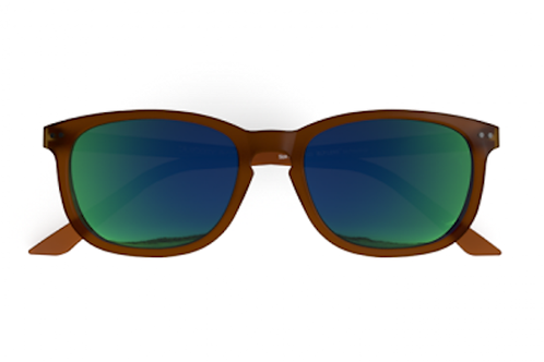 Blueberry Sunglasses XL, Toffee, Green mirror