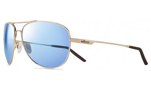 משקפי שמש REVO | WINDSPEED | GOLD | BLUE WATER