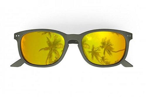 Blueberry Sunglasses XL, Kaki, Gold