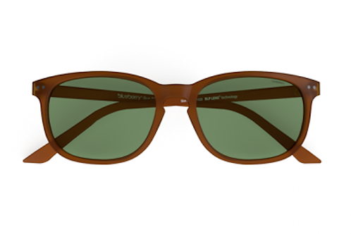 Blueberry Sunglasses XL, Toffee, Green