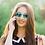 Thumbnail: Blueberry Sunglasses XL, Crystal, Sky Blue mirror