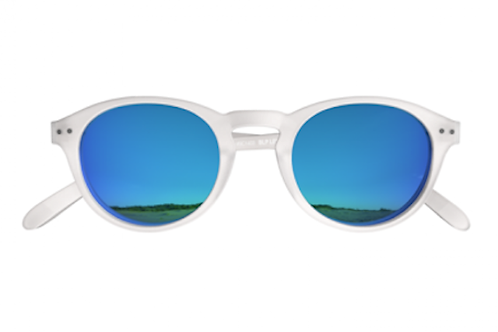 Blueberry Sunglasses L+, Crystal, Sky Blue mirror