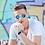 Thumbnail: Blueberry Sunglasses L+, Crystal, Sky Blue mirror