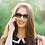 Thumbnail: Blueberry Sunglasses XL, Black, Brown Gradient